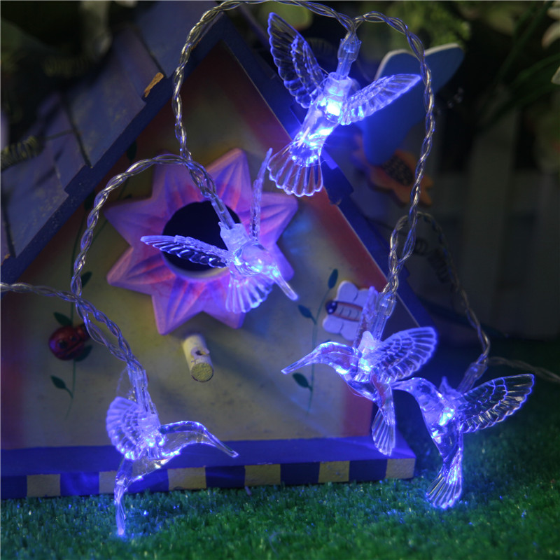 Hummingbird Solar Light String