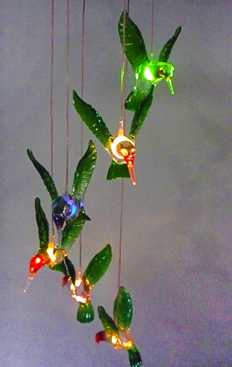 Attractive ... Solar Wind Chimes Lights With Bird ...