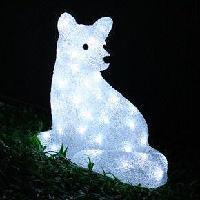 Solar Acrylic polar bear Motif Lights