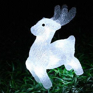 Solar Acrylic deer Motif Lights