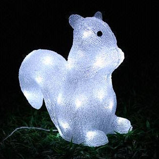 Solar Acrylic squirrel Motif Lights