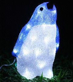 Solar Acrylic penguin Motif Lights